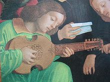 Girolamo dai Libri-Altarpiece-Detail of musician playing a vihuela da mano.jpg