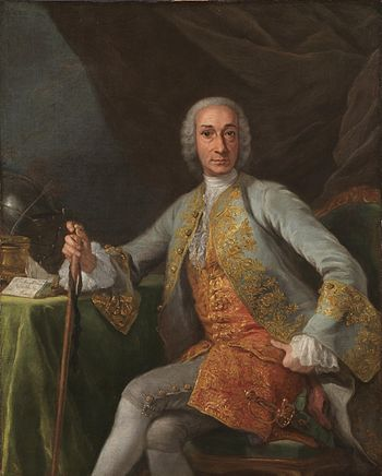 The Marquess of Esquilache, Sicilian statesman and reformer in service to King Charles III Giuseppe bonito-esquilache.jpg