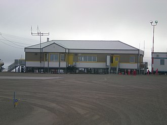 Gjoa Haven Airport - Gjoa Haven terminal from airside