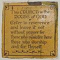 Glastonbury. St John the Baptist. Entrance. Plaque.jpg