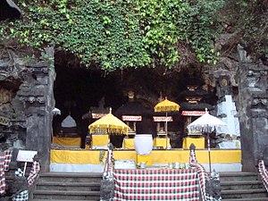 Pura Goa Lawah - These small shrines in the inner sanctum of Pura Goa Lawah mark cave's opening.