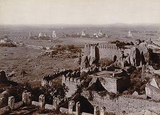 Qutb Shahi tombs - View of Qutb Shahi Tombs from the Golkonda fort