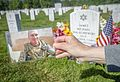 Gold Star mother visits her son in Section 60 150722-A-ZU930-025.jpg