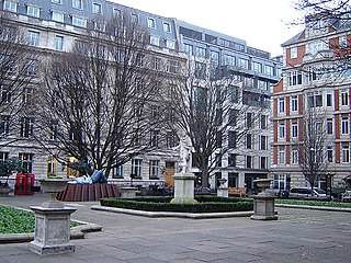 Golden Square square in Soho, London