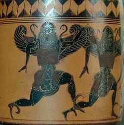 Gorgone, atički ćup (lekythos), oko 530. p.n.e.