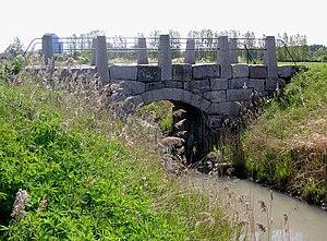 Göta highway - Stone-arched bridge, Årsta field