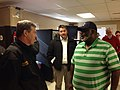 Gov. Cooper, Ronnie Keeter and Doug Williams of NCDOT, in Johnston Co. (24637413557).jpg