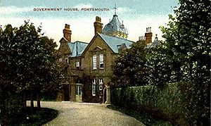 Southern Command (United Kingdom) - Government House, Cambridge Road, Portsmouth, command headquarters from 1882 to 1901