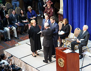Mark Dayton - Dayton being sworn in as Governor