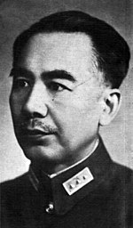 Sheng Shicai in uniform, looking left