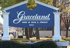 Graceland - Graceland main entrance sign