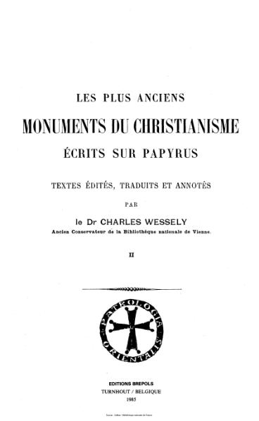 File:Graffin - Nau - Patrologia orientalis - Les plus anciens monuments du Christianisme (écrits sur papyrus). (II).djvu