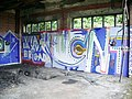 Graffiti, Huncoat Power Station - geograph.org.uk - 848995.jpg