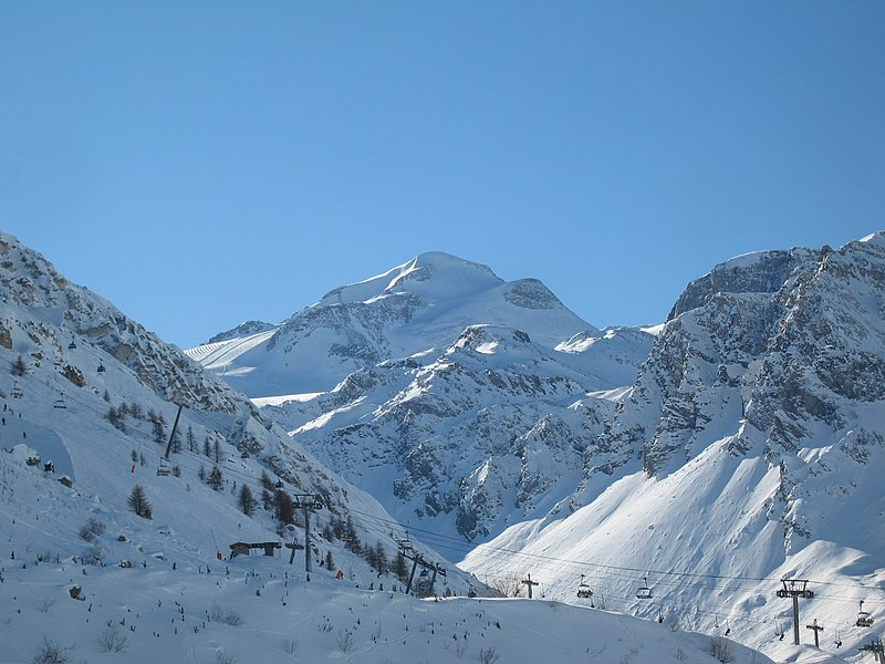 Grande Motte viewed from Tignes