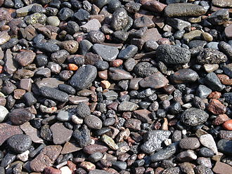 Gravel - Gravel (largest fragment in this photo is about 4 cm)