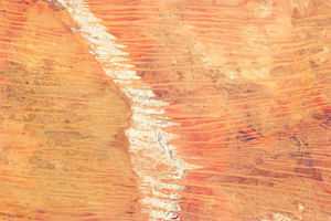 Great Sandy Desert - A satellite image of the dunes in the Great Sandy Desert