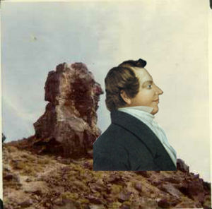 Millard County, Utah - The Great Stone Face and a portrait of Joseph Smith, Jr.