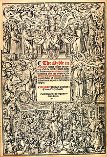 Great Bible English Bible translation, published in 1539; authorized by Henry VIII of England