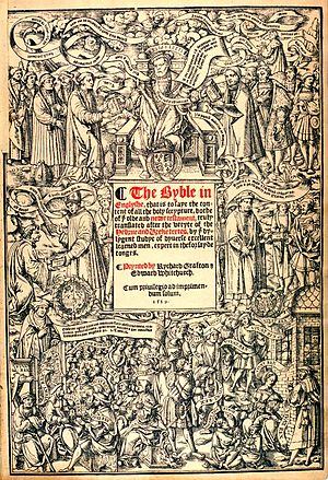 Early Modern English Bible translations - Title page of the Great Bible (1539).