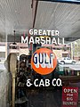 Greater Marshall Gulf and Cab Company Sign, Marshall, NC (39724414713).jpg