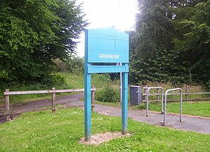 Greenlink Cycle Path - Signpost of the Cycle path