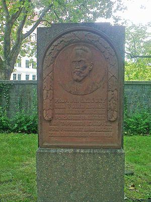 Caspar René Gregory - Relief of Caspar René Gregory in Leipzig on Naunhofer Straße