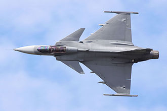 Hungarian Air Force - A JAS39C fly by
