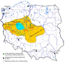 Первісна територія поляків та їх