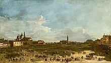 Il Prato della Valle poco prima della trasformazione di Andrea Memmo in un quadro di Francesco Guardi (Museo delle belle arti di Digione).