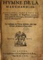 """Guillaume de Poetou - Page de titre """"Hymne de la marchandise"""", 1569.png"""