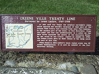 Treaty of Greenville - Image: Gville Treaty Line sign