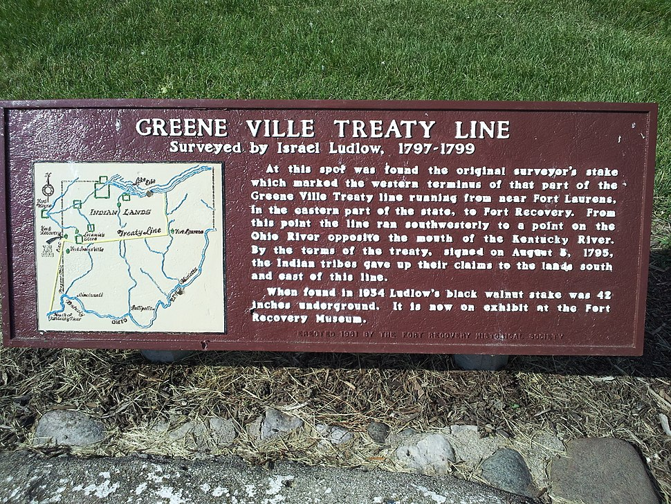 Gville Treaty Line sign