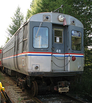 Line 1 Yonge–University - The TTC intended the subway to use streetcar-derived trains, like this former Chicago 'L' train preserved at the Halton County Radial Railway.