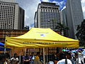 HK Central 中環 遮打道 Chater Road Jesus Is Lord Church yellow cover July-2012.JPG