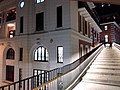 HK Central night 舊中區警署 Ex-Central Police Station 奧卑利街 Old Bailey Street footbridge 荷李活道 Hollywood Road October 2018 SSG 05.jpg