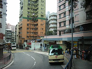 Pok Fu Lam Road - The portion of the road near Sai Ying Pun