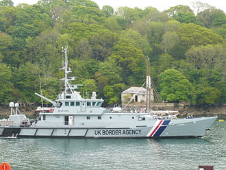 UK Border Agency - UKBA Cutters, such as HMC Searcher, are capable of top speeds of 26 knots