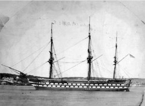 HMS Ganges (shore establishment) - The second ship to be named HMS Ganges, and the first to be a training ship