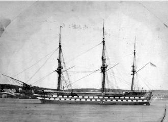 Pacific Station - Image: HMS Ganges