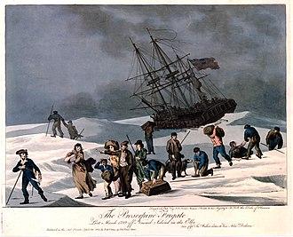 HMS Proserpine (1777) - Image: HMS Proserpine (1777) wrecked