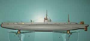 British D-class submarine - A model of HMS D1