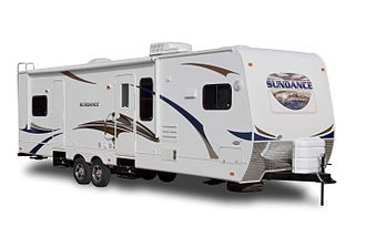 Towing - Travel trailers are a familiar type of recreational vehicle