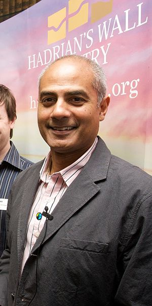 George Alagiah - Alagiah at the launch of Fairtrade's Hadrian's Wall, 2009