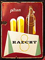 Haecht pilsen enamel advertisig sign.JPG