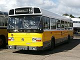 Hague Bus Museum bus, 1975 Leyland National (27-69-GB), Westnederland 3114, Showbus UK 2002.jpg