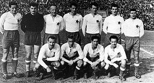 HNK Hajduk Split - Hajduk's squad in 1955, wearing the red star badge
