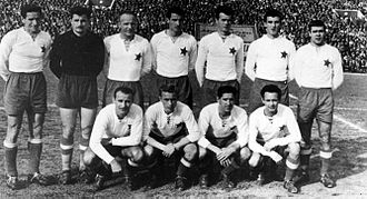 HNK Hajduk Split - Hajduk's squad in 1955, wearing the red star badge