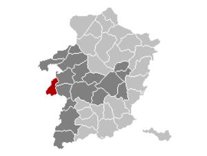 Halen - Image: Halen Limburg Belgium Map