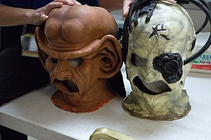 Star Trek: The Next Generation (season 2) - Ferengi (left) and Borg (right) masks at Star Trek: The Experience, in Las Vegas