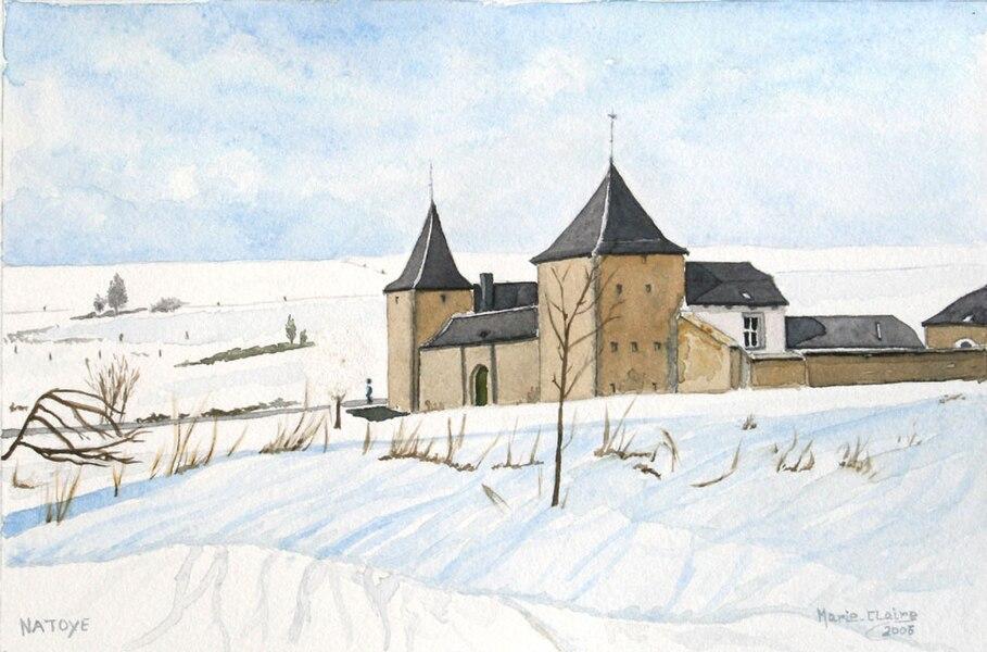 Hamois (Belgique), le château-ferme de Natoye.